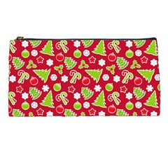 Christmas Paper Scrapbooking Pattern Pencil Cases