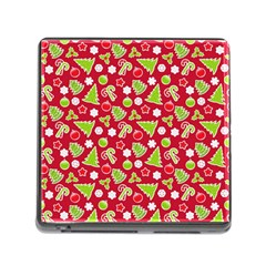 Christmas Paper Scrapbooking Pattern Memory Card Reader (square 5 Slot)