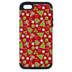 Christmas Paper Scrapbooking Pattern Apple Iphone 5 Hardshell Case (pc+silicone)