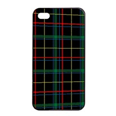 Plaid Tartan Checks Pattern Apple Iphone 4/4s Seamless Case (black)