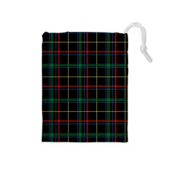 Plaid Tartan Checks Pattern Drawstring Pouch (medium)