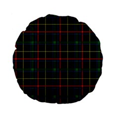 Plaid Tartan Checks Pattern Standard 15  Premium Flano Round Cushions