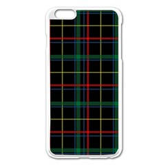Plaid Tartan Checks Pattern Apple Iphone 6 Plus/6s Plus Enamel White Case