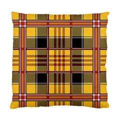 Plaid Tartan Scottish Yellow Red Standard Cushion Case (one Side)