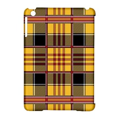 Plaid Tartan Scottish Yellow Red Apple Ipad Mini Hardshell Case (compatible With Smart Cover) by Wegoenart