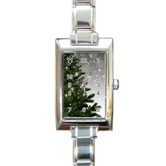 Christmas Fir Tree Mockup Star Rectangle Italian Charm Watch by Wegoenart