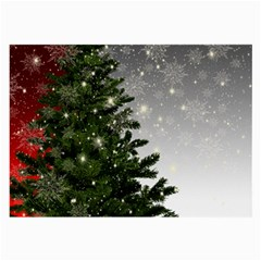 Christmas Fir Tree Mockup Star Large Glasses Cloth (2 Side) by Wegoenart