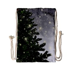 Christmas Fir Tree Mockup Star Drawstring Bag (small)