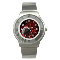 Planet Explode Space Universe Stainless Steel Watch