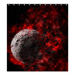 Planet Explode Space Universe Shower Curtain 66  X 72  (large)