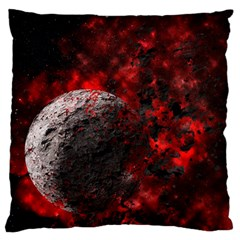 Planet Explode Space Universe Large Cushion Case (one Side)