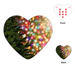 Christmas Tree Fir Tree Star Playing Cards (heart)