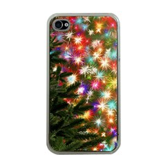 Christmas Tree Fir Tree Star Apple Iphone 4 Case (clear)