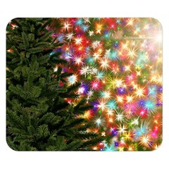 Christmas Tree Fir Tree Star Double Sided Flano Blanket (small)