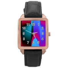 Abstract Art Abstract Background Rose Gold Leather Watch  by Wegoenart