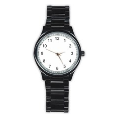 Abstract Pattern Stainless Steel Round Watch