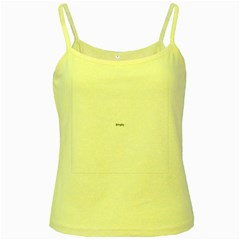 Abstract Pattern Yellow Spaghetti Tank