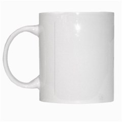 Abstract Pattern White Mugs