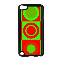 Red Green Christmas Background Apple Ipod Touch 5 Case (black)