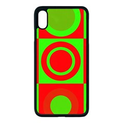Red Green Christmas Background Apple Iphone Xs Max Seamless Case (black) by Wegoenart