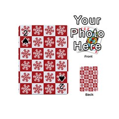 Snowflake Red White Playing Cards 54 (mini)