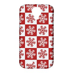 Snowflake Red White Samsung Galaxy S4 Classic Hardshell Case (pc+silicone)