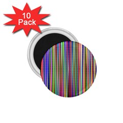 Striped Stripes Abstract Geometric 1 75  Magnets (10 Pack)