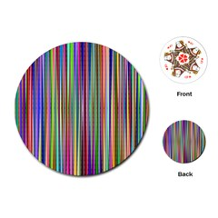 Striped Stripes Abstract Geometric Playing Cards (round)