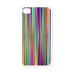 Striped Stripes Abstract Geometric Apple Iphone 4 Case (white)