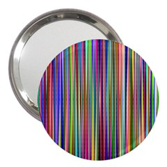 Striped Stripes Abstract Geometric 3  Handbag Mirrors