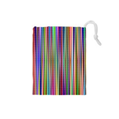 Striped Stripes Abstract Geometric Drawstring Pouch (small)