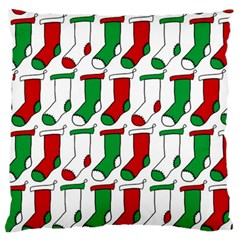 Stocking Background Large Cushion Case (two Sides)