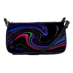Art Abstract Colorful Abstract Shoulder Clutch Bag by Wegoenart