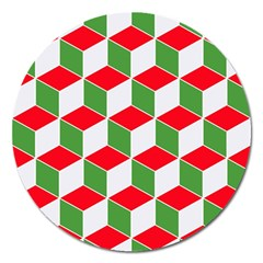 Christmas Abstract Background Magnet 5  (round)