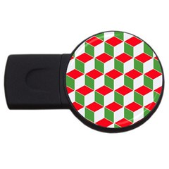 Christmas Abstract Background Usb Flash Drive Round (4 Gb)