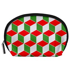 Christmas Abstract Background Accessory Pouch (large)
