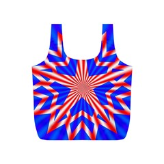 Star Explosion Burst Usa Red Full Print Recycle Bag (s)