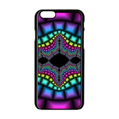 Fractal Art Artwork Digital Art Apple Iphone 6/6s Black Enamel Case