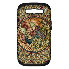 Wings Feathers Cubism Mosaic Samsung Galaxy S Iii Hardshell Case (pc+silicone) by Wegoenart