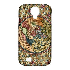 Wings Feathers Cubism Mosaic Samsung Galaxy S4 Classic Hardshell Case (pc+silicone)