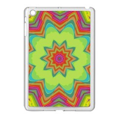 Abstract Art Abstract Background Green Apple Ipad Mini Case (white)