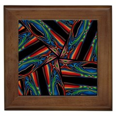 Abstract Art Pattern Framed Tiles