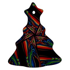 Abstract Art Pattern Christmas Tree Ornament (two Sides)