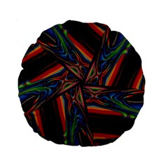 Abstract Art Pattern Standard 15  Premium Round Cushions