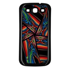 Abstract Art Pattern Samsung Galaxy S3 Back Case (black)