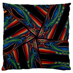 Abstract Art Pattern Large Flano Cushion Case (two Sides)