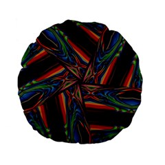 Abstract Art Pattern Standard 15  Premium Flano Round Cushions