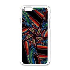 Abstract Art Pattern Apple Iphone 6/6s White Enamel Case