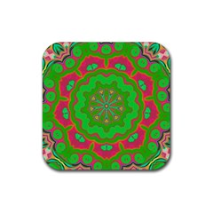 Abstract Art Abstract Background Pattern Rubber Coaster (square)  by Wegoenart