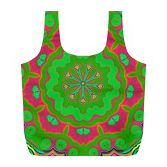 Abstract Art Abstract Background Pattern Full Print Recycle Bag (l)